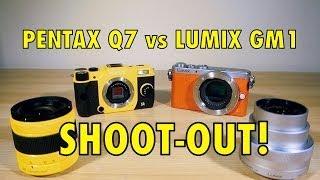 Lumix GM1 vs Pentax Q7  - SHOOTOUT - World's Smallest Mirrorless Cameras!
