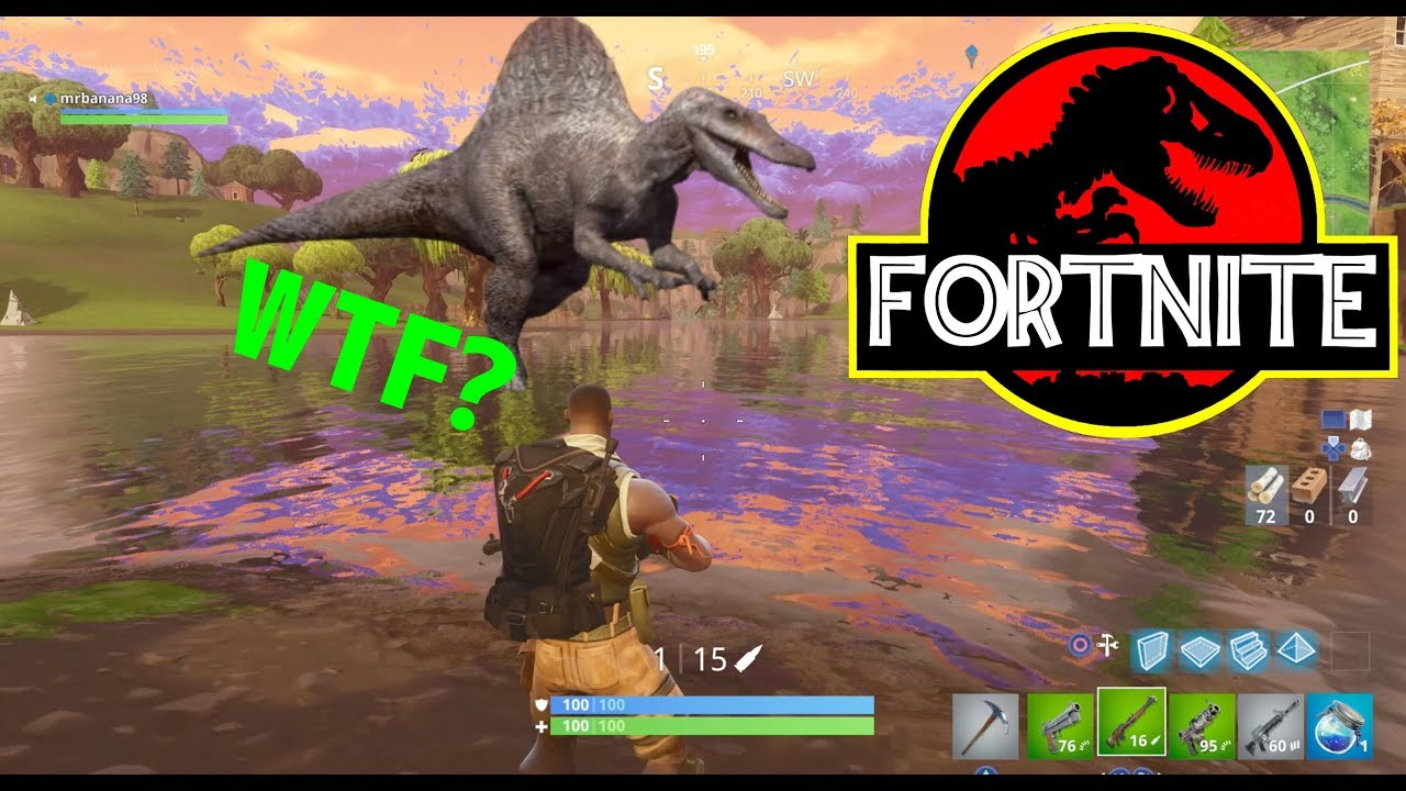 DINOSAURS IN FORTNITE?! JURASSIC PARK EASTER EGG!! - YouTube