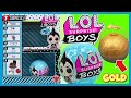 LOL Surprise BOYS Series 1 Boy Doll Unboxing! GOLD BALL! L.O.L. Blind Bags Opening Video for Kids
