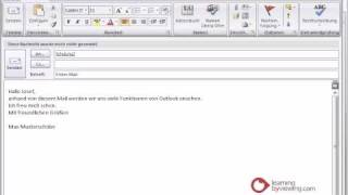 Outlook Tutorial Deutsch Emails senden