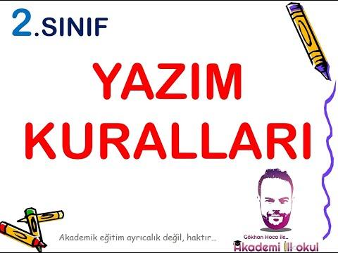 2. SINIF YAZIM KURALLARI