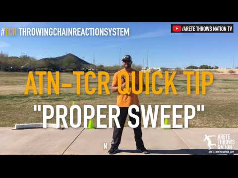 SHOT PUT & DISCUS TECHNIQUE | HOW TO SET UP A PROPER SWEEP LEG FOR BIG THROWS