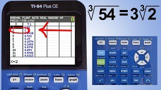 TI 84 Plus CE Simplifying Square Roots and Other Radicals