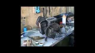 Двигун briggs stratton Чистимо карбюратор,стартер; притираем клапана
