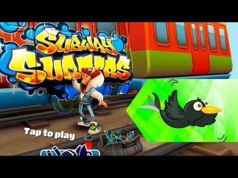 Играем в Subway Surfers. Версия для компьютера, управление клавиатурой