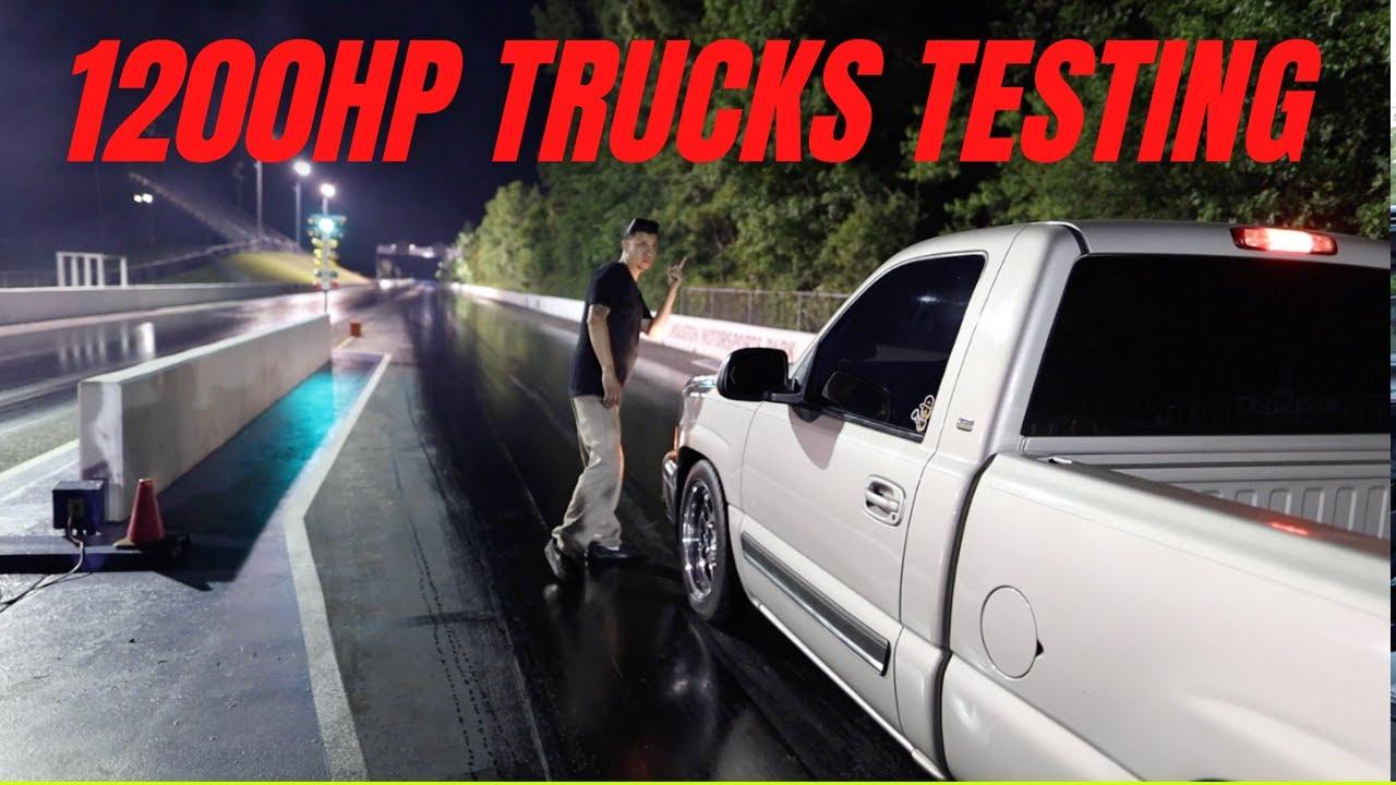 Street truck pops a wheelie!