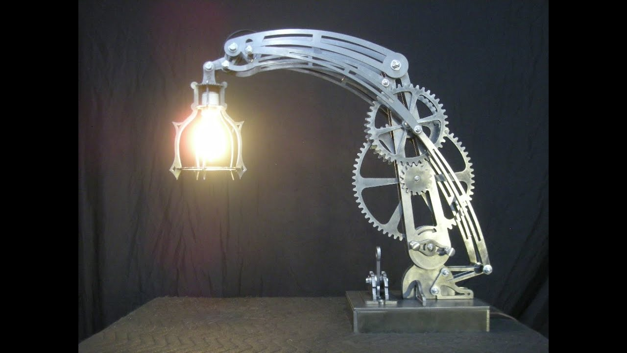 Steam Punk Desk Lamp In Steel