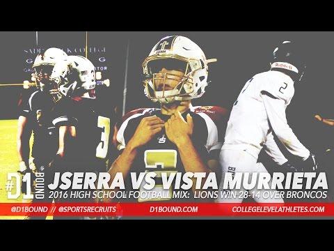 JSerra Catholic Wins 28-14 vs Vista Murrieta (2016) HSFB Highlights - CollegeLevelAthletes.com