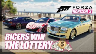 Forza Horizon 3 - Ricers Win The Lottery Challenge! (Funny Moments)
