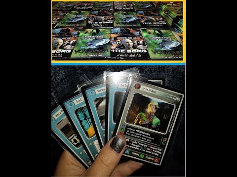 Star Trek CCG - Voyager and The Borg opening part 2 of 2