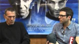 Leonard Nimoy and Zachary Quinto interview