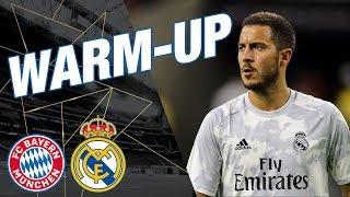 Real Madrid warm-up before Bayern Munich match