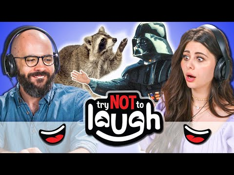 YouTubers React To Try To Watch This Without Laughing Or Grinning #33