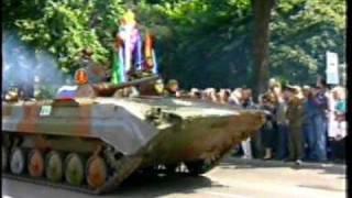 Militärparade in Wünsdorf 1994