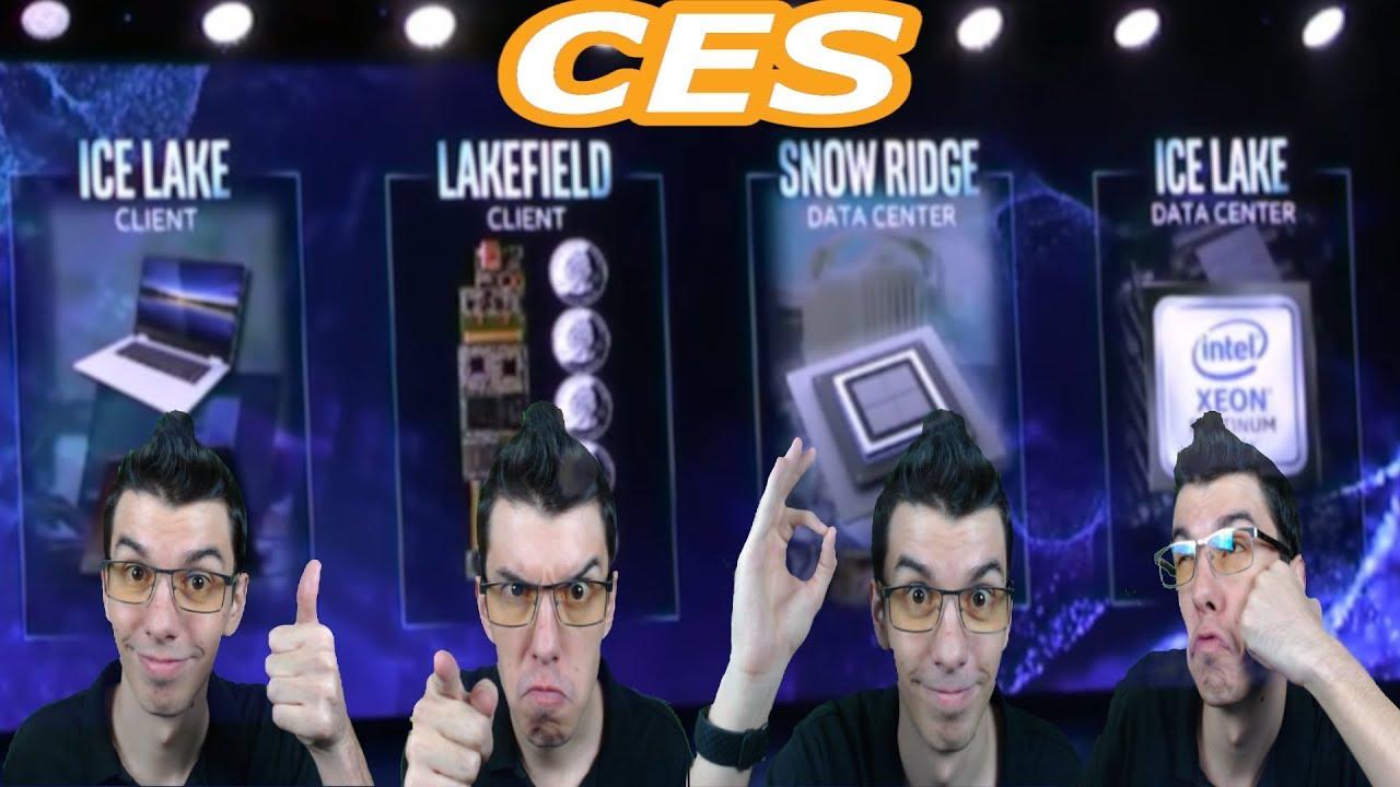 Intel New Desktop/Mobile CPU's +Icelake, Lakefield, Snowridge -CES 2019