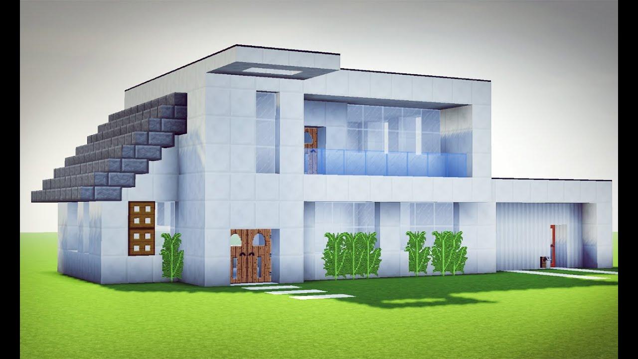 Minecraft tutorial sua primeira casa moderna avan ado for Casa moderna 1 8