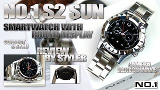 no 1 sun s2 metal smartwatch 1 22 round display mtk6260 heart rate monitor 350ma battery
