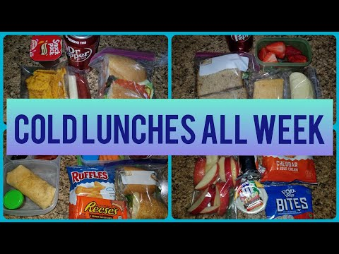 HUSBAND WORK LUNCHES   ALL COLD LUNCH IDEAS FOR THE WEEK