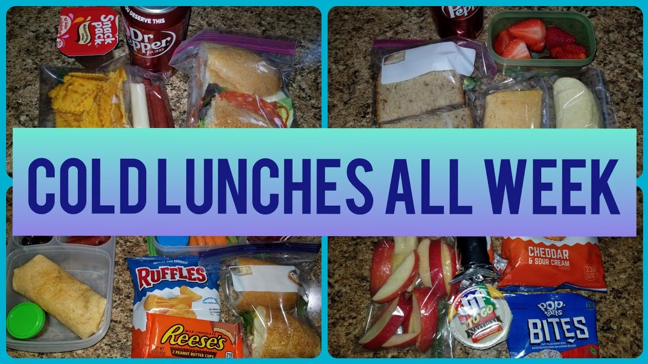 HUSBAND WORK LUNCHES | ALL COLD LUNCH IDEAS FOR THE WEEK