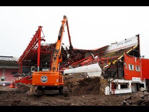 Ashton Gate Update: Williams Stand Demolition Continues