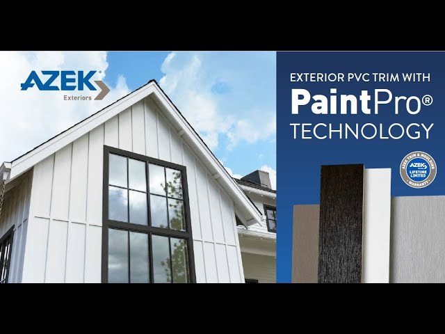 AZEK PVC Trim with PaintPro Technology