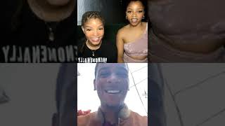 Chloe x Halle answer question, sing Down & goes live with brett gray on Instagram Live 4/30/2020