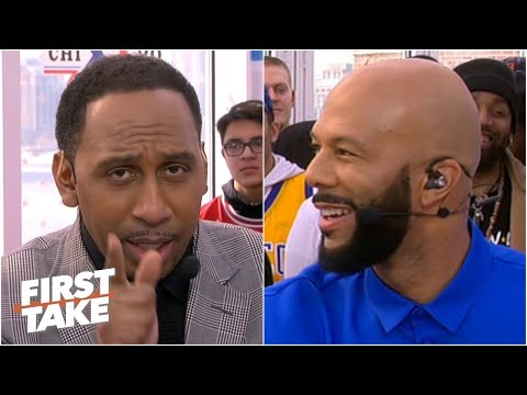 Stephen A. Vows To Bench Players In The All-Star Celebrity Game, Gets Taunted By Common   First Take
