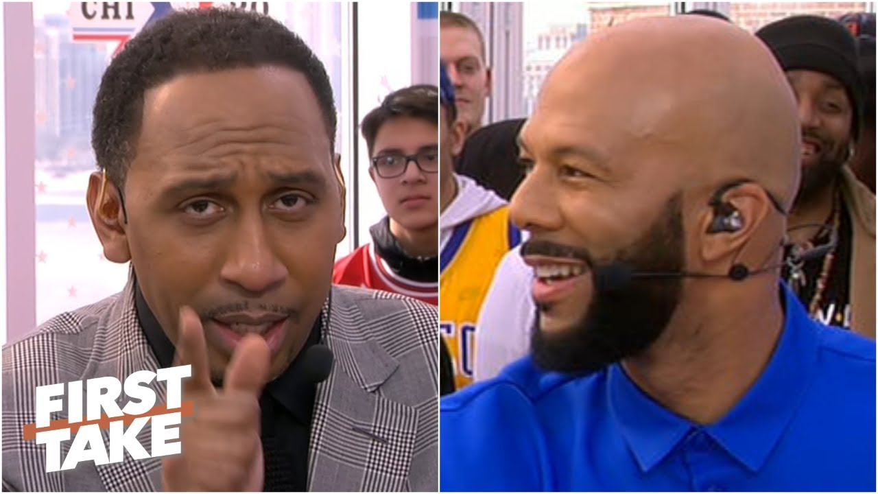 Stephen A. vows to bench players in the All-Star Celebrity Game, gets taunted by Common | First Take