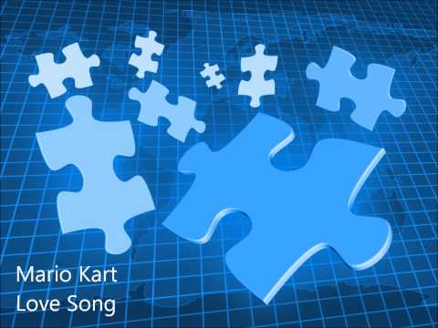 Mario Kart - Love Song on Piano Instrumental Karaoke