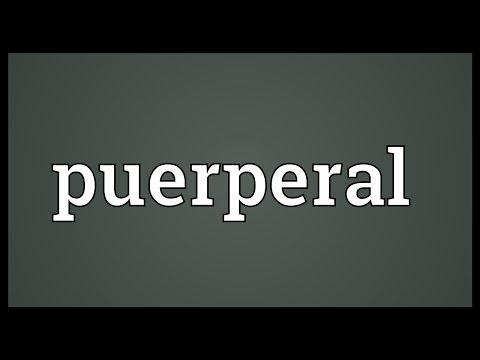 Header of puerperal