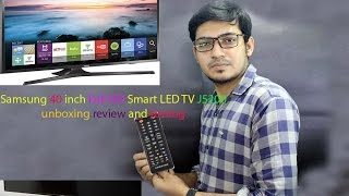 Samsung 40 inch Full HD Smart LED TV J5200 unboxing review and testing