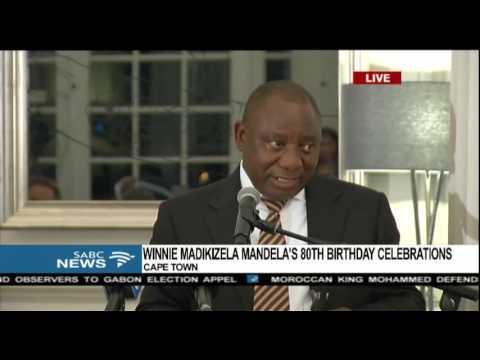Cyril Ramaphosa's birthday message to Winnie