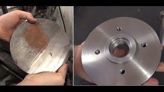 Fabricando flange para placa de torno