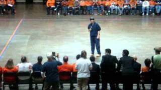 2010 Chief Illiniwek Ivan Dozier Jr. speaks at The Next Dance 2010