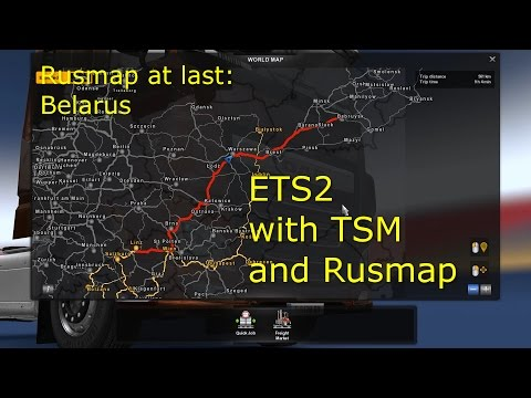 Eurotruck Simulator 2 with TSM and Rusmap Part 13 - To Belarus / Rusmap