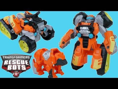 TRANSFORMERS RESCUE BOTS BRUSHFIRE SEQUOIA BEAR ATV MINI CON SWIFT HEATWAVE ROBOTS IN DISGUISE