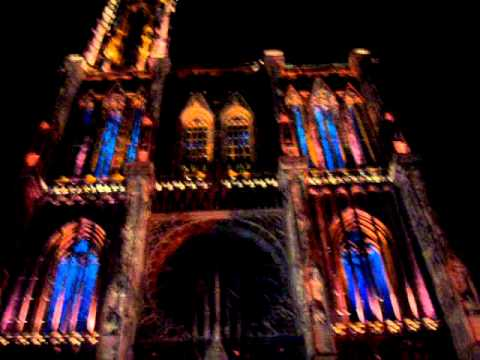 illumination de la cathedrale de strasbourg youtube. Black Bedroom Furniture Sets. Home Design Ideas