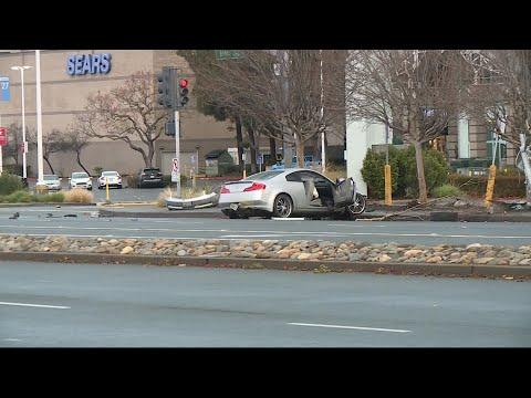 Gas Line Broken By Vehicle Near Arden Fair Mall In Sacramento