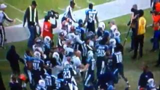 Broncos & Titans brawl After cheap Hit on Chris Harris.