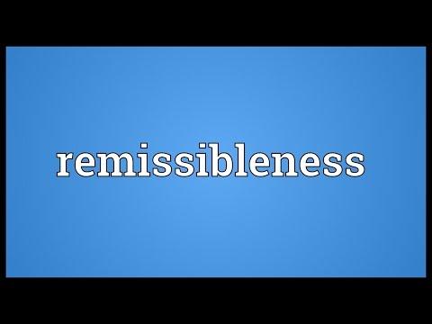 Header of remissibleness