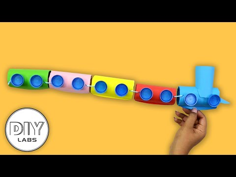 How to make a TRAIN using Paper Roll | Fast-n-Easy | DIY Labs