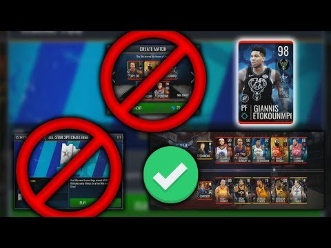 THE FASTEST WAY TO GET 98 ALL STAR MASTERS IN NBA LIVE MOBILE!