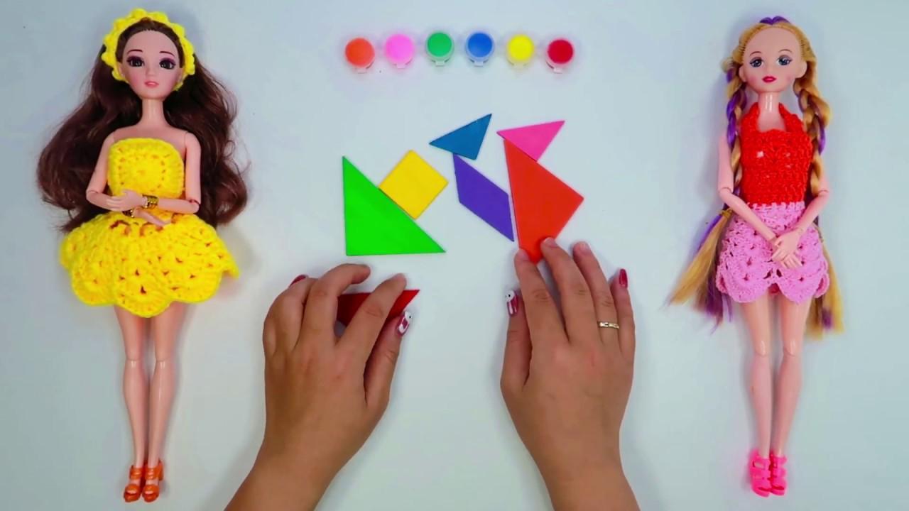 Hana Kids - Ghép hình các loài động vật đáng yêu - Bé học nhận biết màu sắc