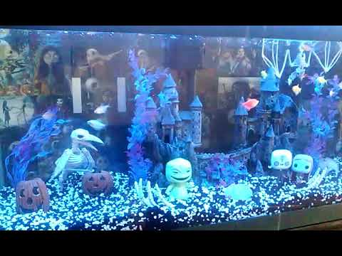 nightmare before christmas fish tank aquarium - Christmas Aquarium Decorations