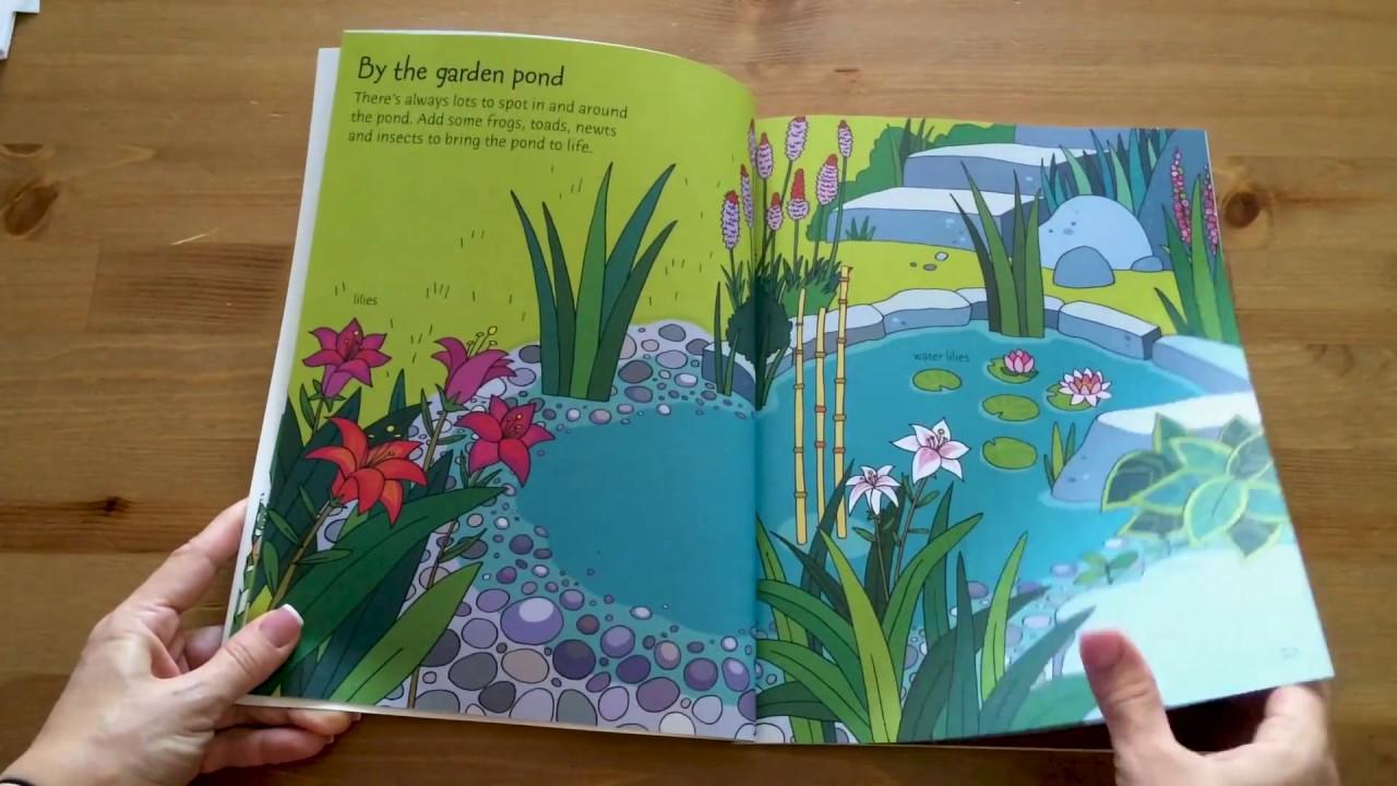 Garden Sticker and Colouring book - Usborne - YouTube