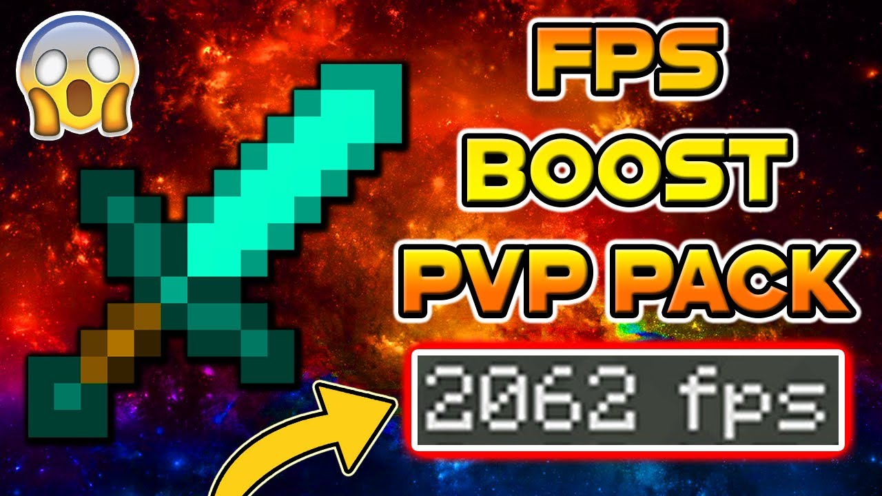 Minecraft PvP Texture Pack - FPS BOOST NO LAG 16X16 EDIT Resource Pack UHC  HCF POT PVP BOOSTER 2017