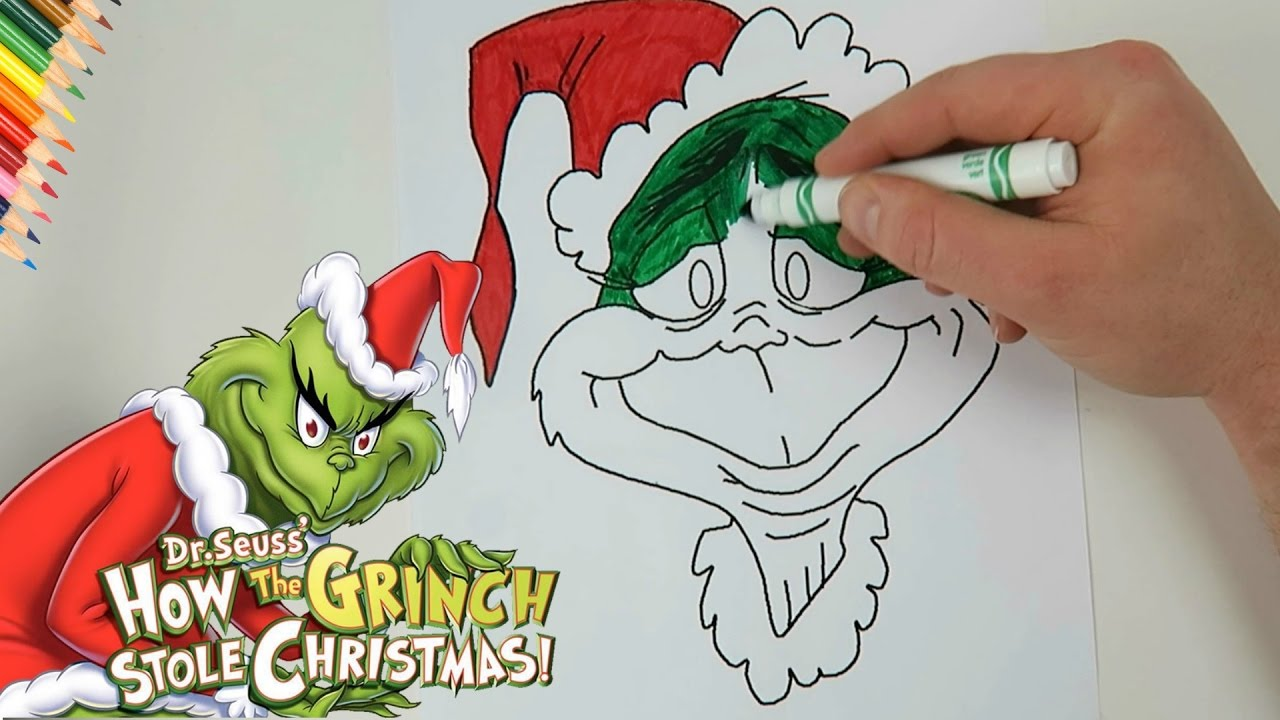 how the grinch stole christmas coloring page - youtube