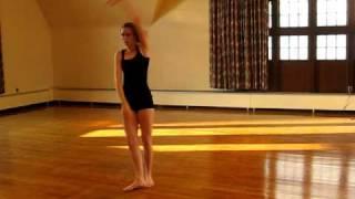 modern dance across the floor