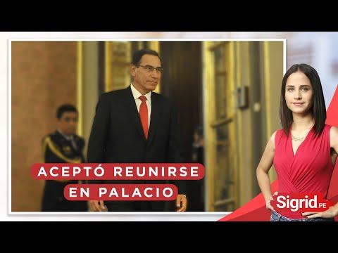 Vizcarra aceptó reunirse con Olaechea, pero en Palacio   Sigrid.pe