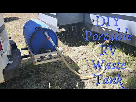 How To Use A Macerator Pump And A Portable Waste Tank To Empty RV Holding Tanks